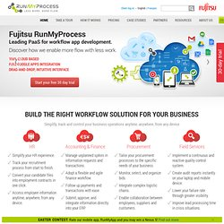 Workflow Software via Cloud Computing Service | RunMyProcess