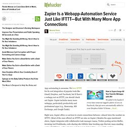 Zapier Is a Webapp-Automation Service Just Like IFTTT—But With Many More App Connections