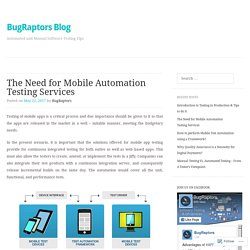 The Need for Mobile Automation Testing Services