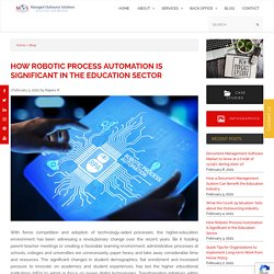 How Robotic Process Automation Is Significant in the Education Sector