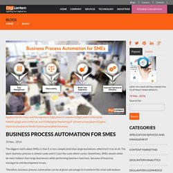 Business Process Automation for SMEsDigilantern