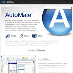 IT Automation Software - AutoMate 9 - Network Automation