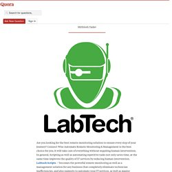 Best Automation Software For Today's IT Industry - Labtech Scripts - Quora