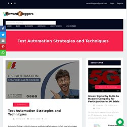 Test Automation Strategies and Techniques