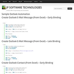 Sample Outlook Automation