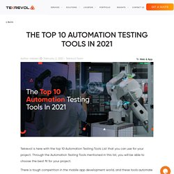 The Top 10 Automation Testing Tools In 2021