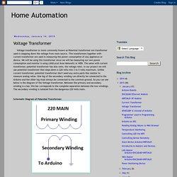 Home Automation: Voltage Transformer
