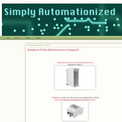 Simply Automationized: Raspberry Pi Din Rail Enclosures Compared