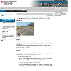 ASTRA - Comptage suisse automatique de la circulation routière (CSACR)