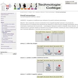 Portail automatique - Académie de Besançon Technologie Collège