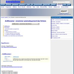 AntRenamer : renommer automatiquement des fichiers