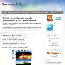 un logiciel portable pour créer automatiquement un diaporama de vos photos