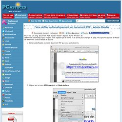 Faire défiler automatiquement un document PDF - Adobe Reader