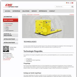 AGV laser : chariots automatiques filoguidés et optoguidés papeterie- DS Automotion