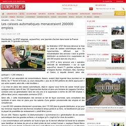 Les caisses automatiques menaceraient 200000 emplois - 13/04/2007