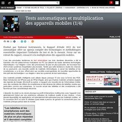 Tests automatiques et multiplication des appareils mobiles