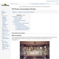 TOP WikiMéca TD Portes automatiques avec corrigé