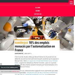 10% des emplois menacés par l'automatisation en France