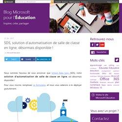 SDS, solution d'automatisation de salle de classe en ligne, désormais disponible !