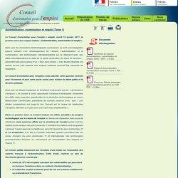 COE - Automatisation, numérisation et emploi