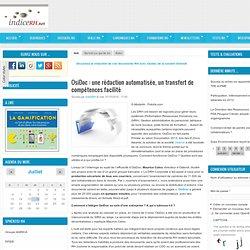 OsiDoc: une rédaction automatisée, un transfert de compétences facilité