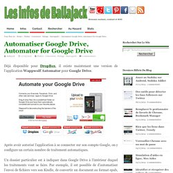 Automatiser Google Drive, Automator for Google Drive