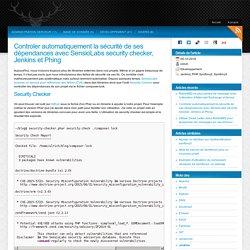 Automatiser le contrôle de CVE dans les dépendances d'un projet PHP