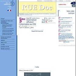 RUE Doc - Automatiser la diffusion de l'information au CDI