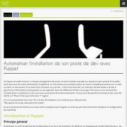 SOAT Blog » Automatiser l'installation de son poste de dév avec Puppet