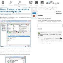 Macro Toolworks, automatiser des tâches répétitives
