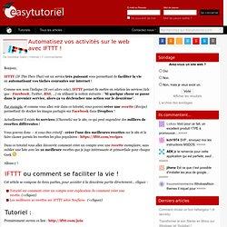 Automatisez vos activités sur le web avec IFTTT