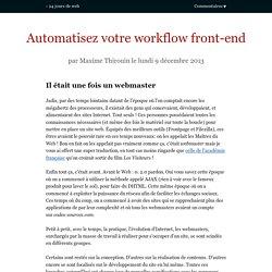 Automatisez votre workflow front-end