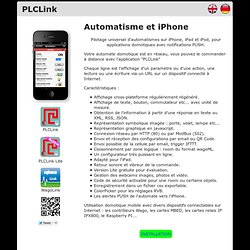 PLCLink : Supervision d'automatismes sur iPod/iPhone avec notifications Push