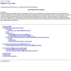 Automatización de Tesauros y su utilización en la Web Semántica