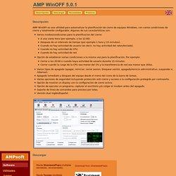 AMP WinOFF - Una utilidad para automatizar el cierre de sistemas Windows con diferentes modos (cerrar, reiniciar, hibernar, bloquear equipo...) - AMPsoft