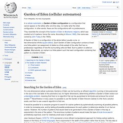 Garden of Eden (cellular automaton)