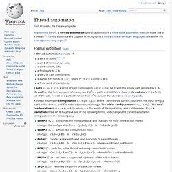 Thread automaton