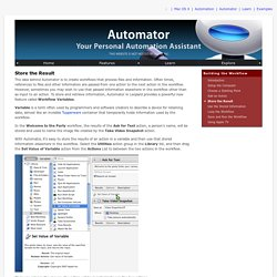 Automator: Examples