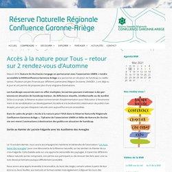 Accès à la nature pour Tous - retour sur 2 rendez-vous d'Automne - RNR Confluence Garonne-Ariège