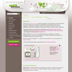 Automne : Content Management System - Automne CMS