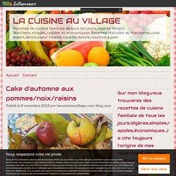 Cake d'automne aux pommes/noix/raisins
