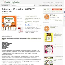 Automne-30-puzzles-GRATUIT-French-Fall-1878717 Teaching Resources