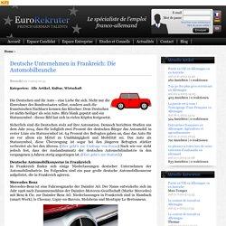 Die Automobilbranche - Deutsche Unternehmen in Frankreich