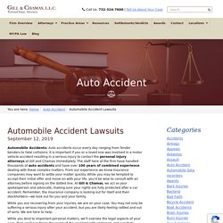 Vehicle Accident Lawsuits - Gill & Chamas