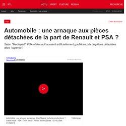 Automobile : une arnaque aux pièces détachées de la part de Renault et PSA ?