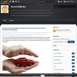 Boost your sales and marketing campaign with Automobile Insurance Services Executives Email Database - AverickMedia