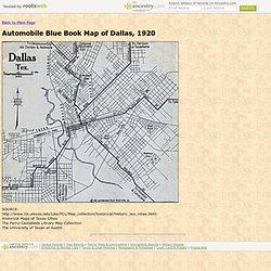 Automobile Blue Book Map of Dallas, 1920
