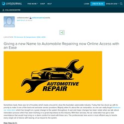 Giving a new Name to Automobile Repairing now Online Access with an Ease