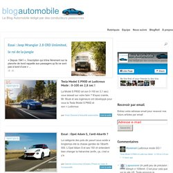 Blog Automobile