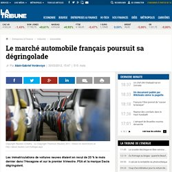 Le marché auto français dégringole